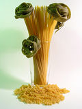 Pasta-flowers :-). A couple of diverse pasta products Royalty Free Stock Image