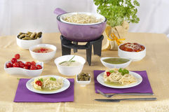 Pasta fondue Royalty Free Stock Photography