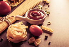 Pasta and food ingredient Stock Photography