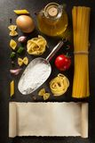 Pasta and food ingredient Stock Photo