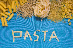 Pasta food lettering Stock Image