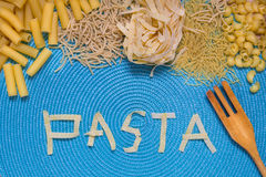 Pasta food lettering Stock Photo