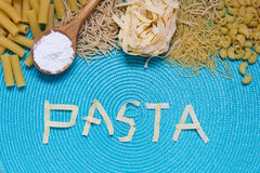 Pasta food lettering Stock Images