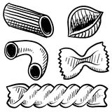 Pasta food sketch Stock Images