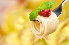 Pasta. Food Spaghetti Fork Gourmet Italian Culture Italy Stock Photography