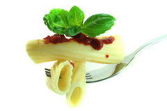 Pasta on a fork Stock Photos