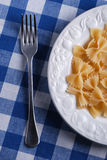 Pasta and fork Royalty Free Stock Photos