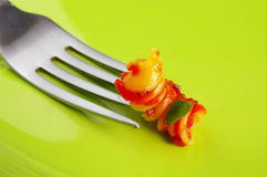 Pasta fork Royalty Free Stock Images