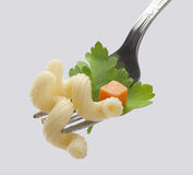 Pasta on the fork Royalty Free Stock Photo