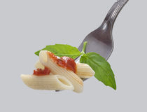 Pasta on the fork Royalty Free Stock Photography