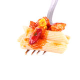 Pasta on fork Royalty Free Stock Image