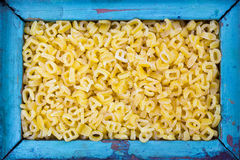 Pasta. In the form of numbers and letters Royalty Free Stock Image