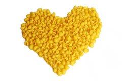 Pasta a forma di del cuore Fotografia Stock