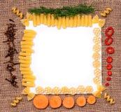 Pasta frame Royalty Free Stock Image