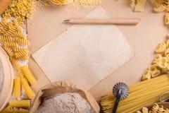 Pasta frame Stock Photography