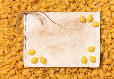Pasta frame Stock Images