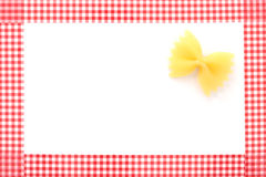 Pasta framed background Royalty Free Stock Photo