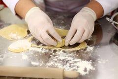 Pasta fresca fatta a mano Immagini Stock Libere da Diritti