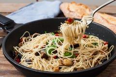 Pasta fresca italiana Fotografia Stock