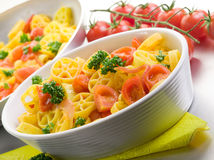 Pasta with fresh tomatoes Stock Image