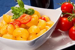 Pasta with fresh tomatoes Royalty Free Stock Image