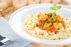 Pasta fusilli Royalty Free Stock Images