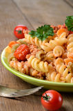 Pasta fusilli with bolognese Royalty Free Stock Photos