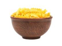 Pasta fusilli in bowl Stock Photography