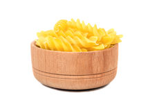 Pasta fusilli in bowl Royalty Free Stock Photography
