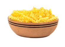 Pasta fusilli in bowl Stock Photos