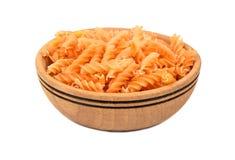 Pasta fusilli in bowl Stock Photo