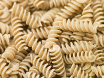 Pasta, Fusilli Whole Wheat Royalty Free Stock Image