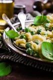 Pasta galletti with peas Stock Image