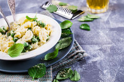 Pasta galletti with peas Royalty Free Stock Images