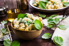 Pasta galletti with peas Stock Photos