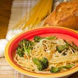 Pasta with Garlic Stock Photos