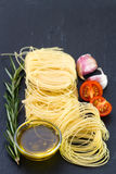 Pasta with garlic Stock Photography
