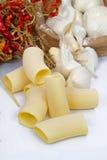Pasta, garlic, olive oil and chilli Stock Photo