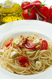 Pasta garlic olive oil and red chili pepper Royalty Free Stock Images