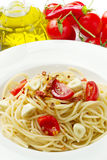 Pasta garlic olive oil and red chili pepper Royalty Free Stock Photo