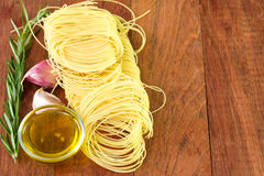 Pasta with garlic, rosemary Royalty Free Stock Photography