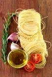 Pasta with garlic, rosemary Stock Image