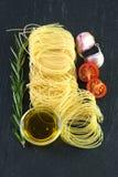 Pasta with garlic, rosemary Stock Photo