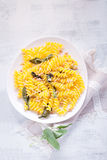 Pasta with garlic and sage Royalty Free Stock Images