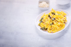 Pasta with garlic and sage Royalty Free Stock Image