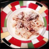 Pasta Genovese with beef Stock Photography