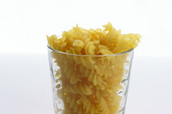 Pasta in glass Royalty Free Stock Photo