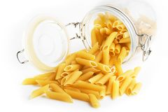 Pasta glass Stock Images