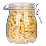 Pasta in glass jar Royalty Free Stock Photo