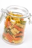 Pasta in a glass jar Stock Image